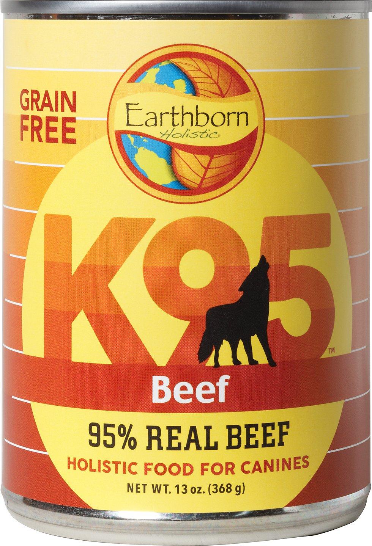 Earthborn Holistic K95 Beef Recipe Grain-Free Canned Dog Food, 13-oz, case of 12