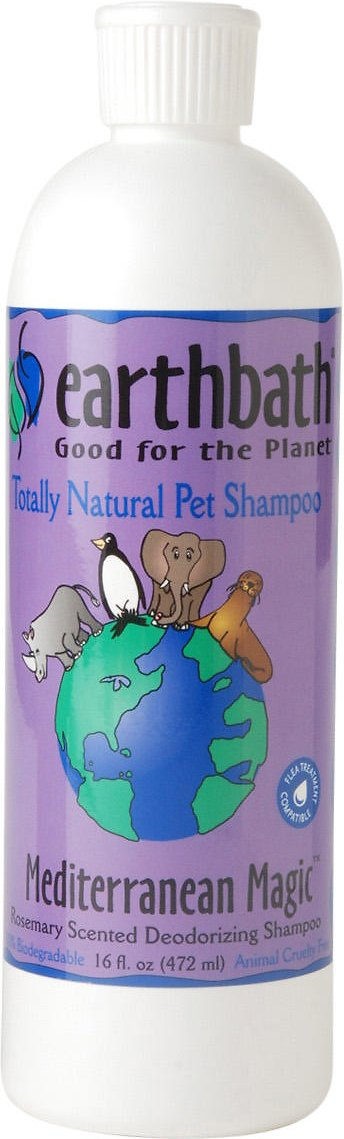 Earthbath Deodorizing Rosemary Dog & Cat Shampoo, 16-oz bottle Image