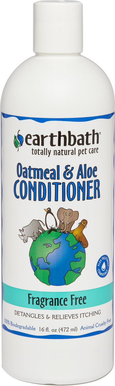 Earthbath Oatmeal & Aloe Fragrance Free Dog & Cat Conditioner, 16-oz bottle Image