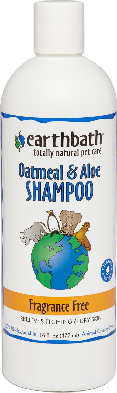 Earthbath Oatmeal & Aloe Shampoo for Dogs & Cats, Fragrance Free, 16-oz