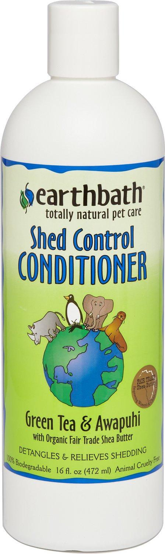 Earthbath Shed Control Green Tea & Awapuhi Dog & Cat Conditioner, 16-oz bottle Image