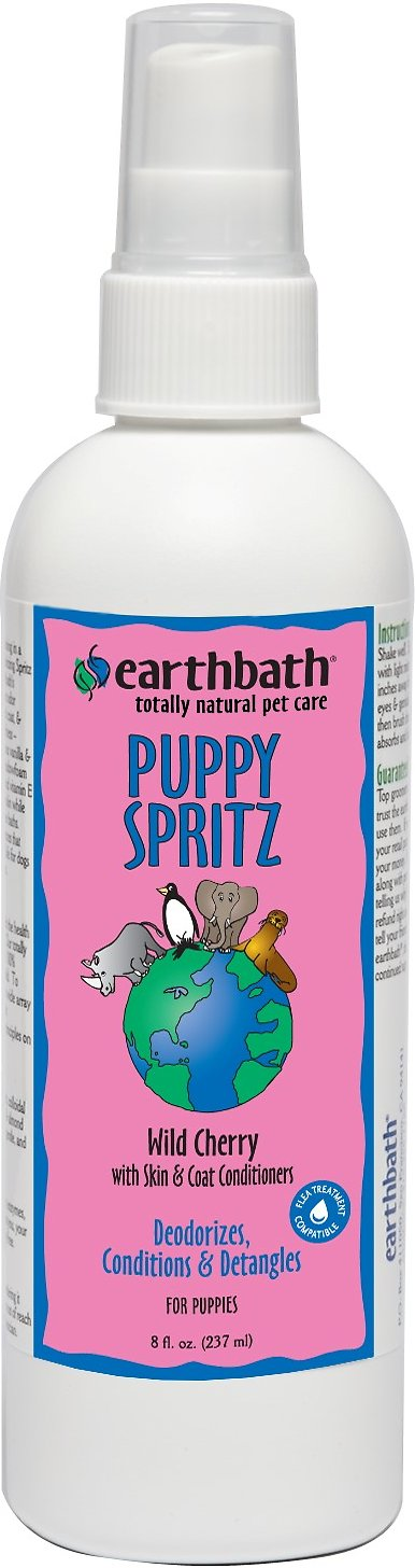 Earthbath Wild Cherry Puppy Spritz, 8-oz bottle