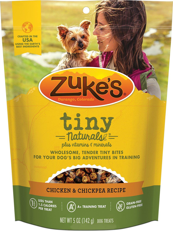 Zuke's Tiny Naturals Chicken & Chickpea Recipe Dog Treats, 5-oz bag