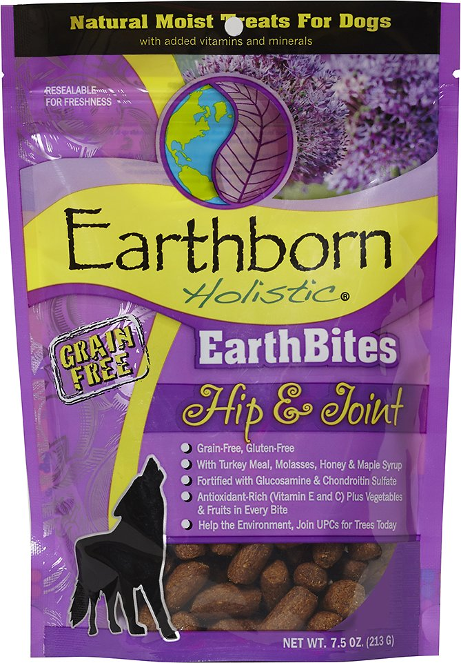 Earthborn Holistic EarthBites Hip & Joint Natural Moist Treats For Dogs, 7.5-oz bag