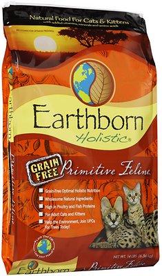 Earthborn Holistic Primitive Feline Grain-Free Natural Dry Cat & Kitten Food, 14-lb bag