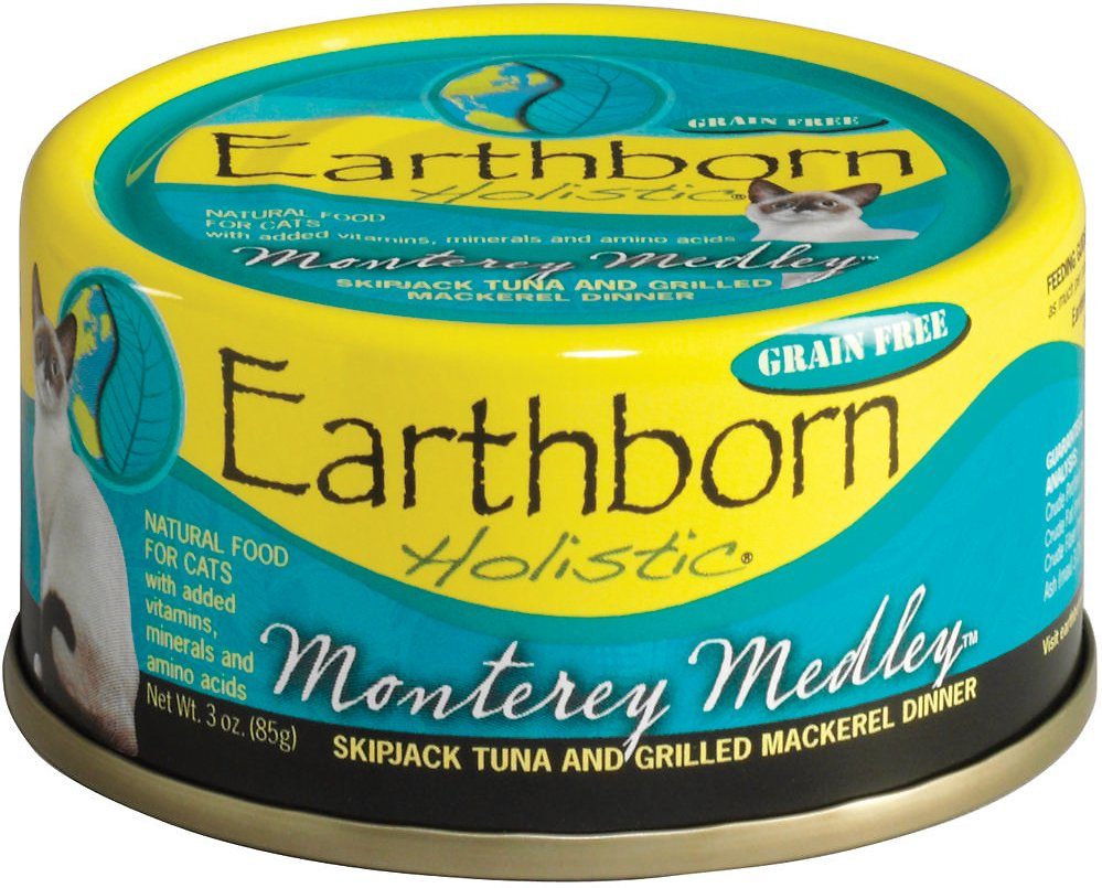 Earthborn Holistic Monterey Medley Grain-Free Natural Canned Cat & Kitten Food, 5.5-oz
