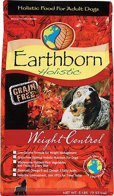 Earthborn Holistic Grain-Free Weight Control Dry Dog Food, 4-lb