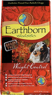 Earthborn Holistic Grain-Free Weight Control Dry Dog Food, 25-lb bag