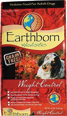Earthborn Holistic Grain-Free Weight Control Dry Dog Food, 12.5-lb bag