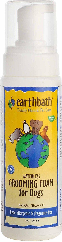 Earthbath Waterless Hypo-Allergenic Grooming Foam for Dogs, 8-oz bottle Image