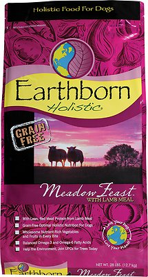 Earthborn Holistic Meadow Feast Grain-Free Natural Dry Dog Food, 25-lb bag