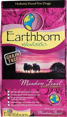 Earthborn Holistic Meadow Feast Grain-Free Natural Dry Dog Food, 12.5-lb bag