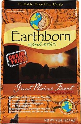 Earthborn Holistic Great Plains Feast Grain-Free Natural Dry Dog Food, 4-lb