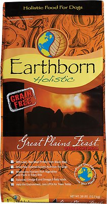 Earthborn Holistic Great Plains Feast Grain-Free Natural Dry Dog Food, 25-lb bag Size: 25-lb bag, Weights: 25.0 pounds