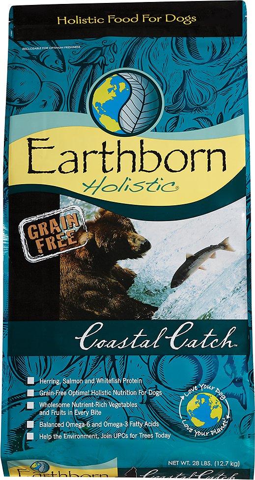 Earthborn Holistic Coastal Catch Grain-Free Natural Dry Dog Food, 4-lb bag