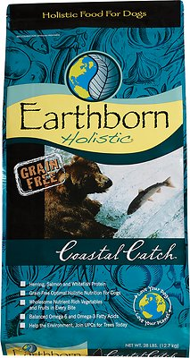 Earthborn Holistic Coastal Catch Grain-Free Natural Dry Dog Food, 25-lb bag