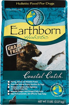 Earthborn Holistic Coastal Catch Grain-Free Natural Dry Dog Food, 4-lb