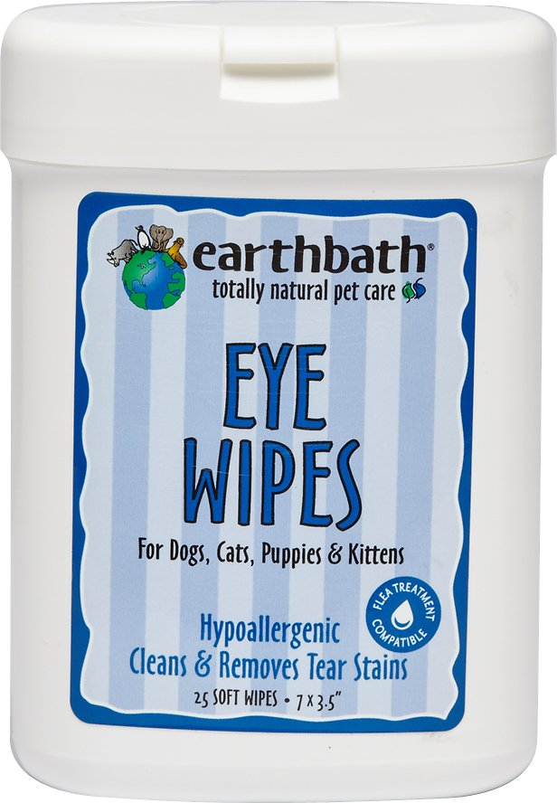 Earthbath Eye Wipes for Dogs & Cats, 25 count Image
