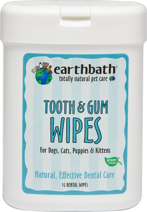 Earthbath Specialty Tooth & Gum Wipes for Dogs & Cats, 25-count Image