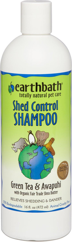 Earthbath Shed Control Green Tea & Awapuhi Dog & Cat Shampoo, 16-oz bottle Image
