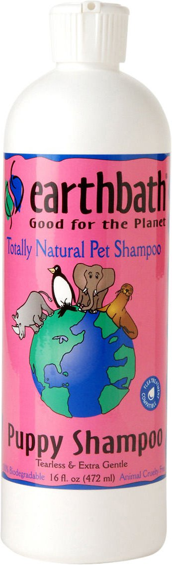 Earthbath Ultra-Mild Wild Cherry Puppy Shampoo, 16-oz bottle