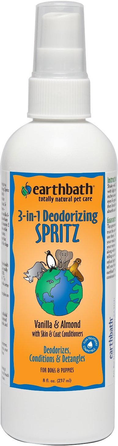 Earthbath 3-in-1 Deodorizing Vanilla Almond Spritz for Dogs, 8-oz bottle