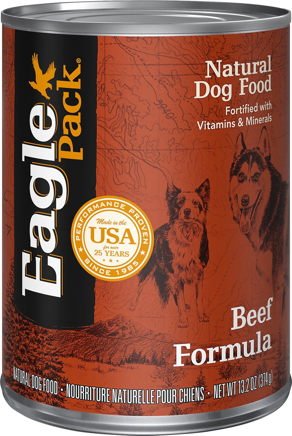 Eagle Pack Beef Formula Canned Dog Food, 13.2-oz