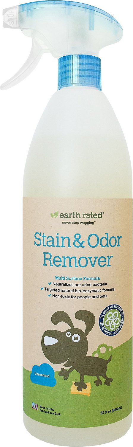 Earth Rated Unscented Stain & Odor Remover, 32-oz bottle