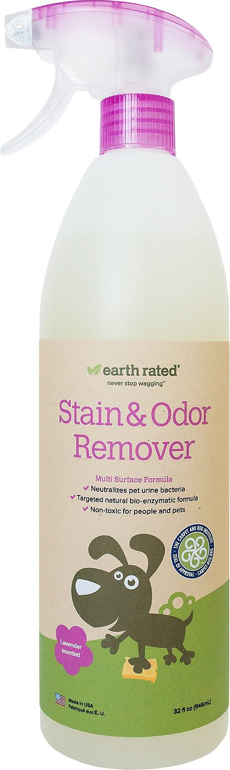 Earth Rated Lavender Scented Stain & Odor Remover, 32-oz bottle