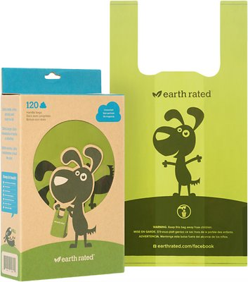 Earth Rated PoopBags Handle Bags, Unscented, 120 count, unscented