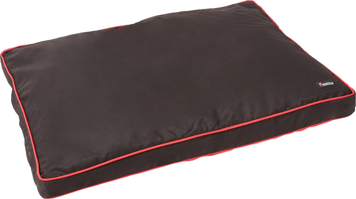 Dogzilla Gusseted Pillow Pet Bed, Red/Black