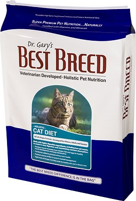 Dr. Gary's Best Breed Holistic All Life Stages Dry Cat Food, 15-lb