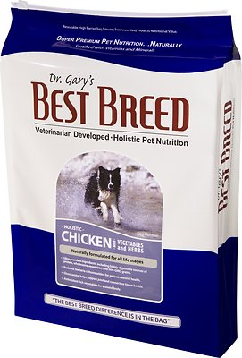 Dr. Gary's Best Breed Holistic Chicken with Vegetables & Herbs Dry Dog Food, 4-lb bag