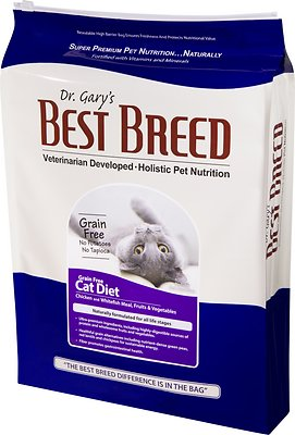 Dr. Gary's Best Breed Holistic Grain-Free All Life Stages Dry Cat Food, 4-lb bag