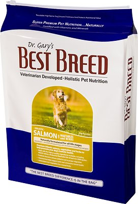 Dr. Gary's Best Breed Holistic Salmon with Vegetables & Herbs Dry Dog Food, 15-lb