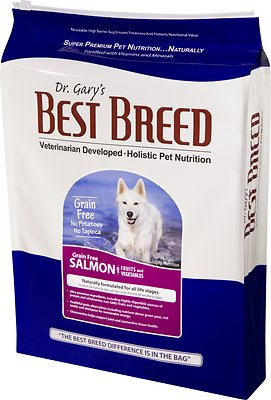 Dr. Gary's Best Breed Holistic Grain-Free Salmon with Fruits & Vegetables Dry Dog Food, 4-lb bag