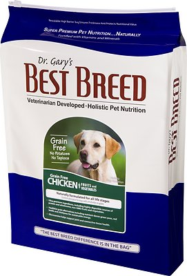 Dr. Gary's Best Breed Holistic Grain-Free Chicken with Fruits & Vegetables Dry Dog Food, 30-lb bag