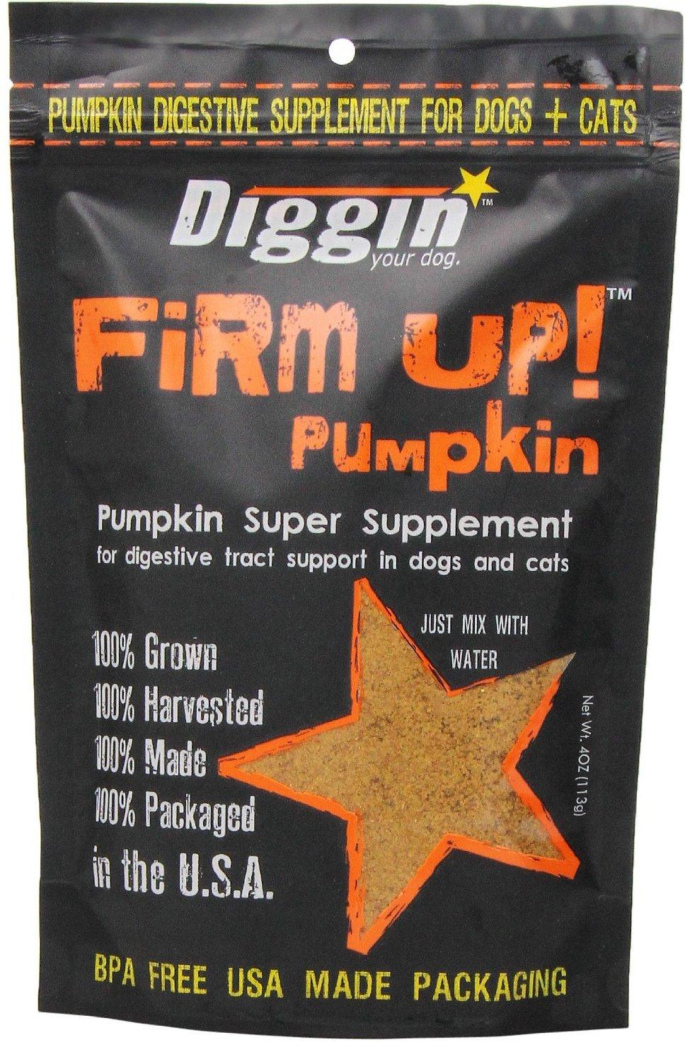 Diggin' Your Dog Firm Up! Pumpkin Super Dog & Cat Supplement Image