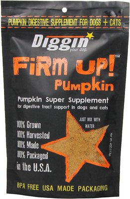 Diggin' Your Dog Firm Up! Pumpkin Super Dog & Cat Supplement, 4-oz bag