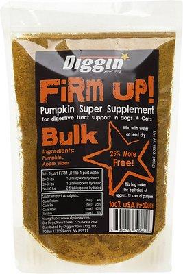 Diggin' Your Dog Firm Up! Pumpkin Super Dog & Cat Supplement, 16-oz bag