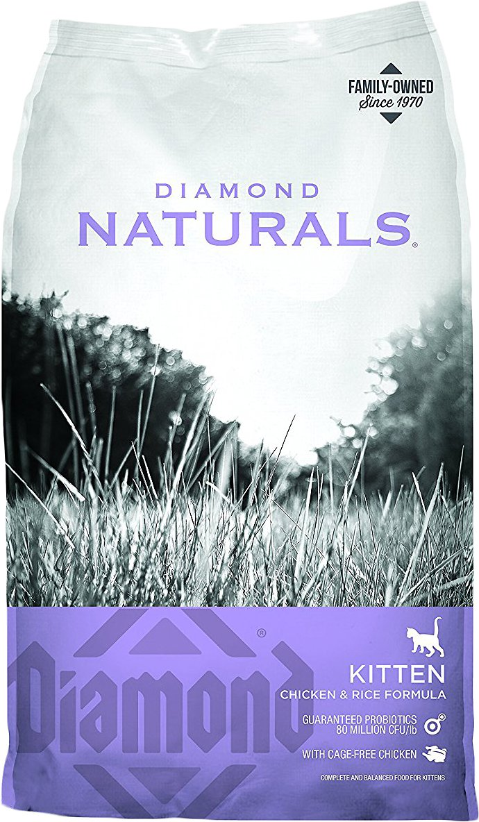 Diamond Naturals Kitten Formula Dry Cat Food, 6-lb bag (Weights: 6.0 pounds) Image