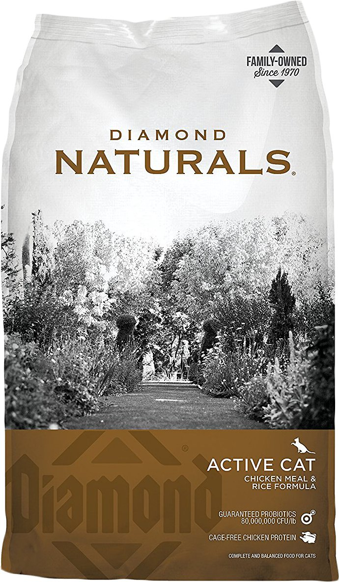 Diamond Naturals Active Chicken Meal & Rice Formula Dry Cat Food Image