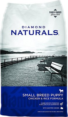 Diamond Naturals Small Breed Puppy Formula Dry Dog Food, 18-lb bag Size: 18-lb bag, Weights: 18.0pounds
