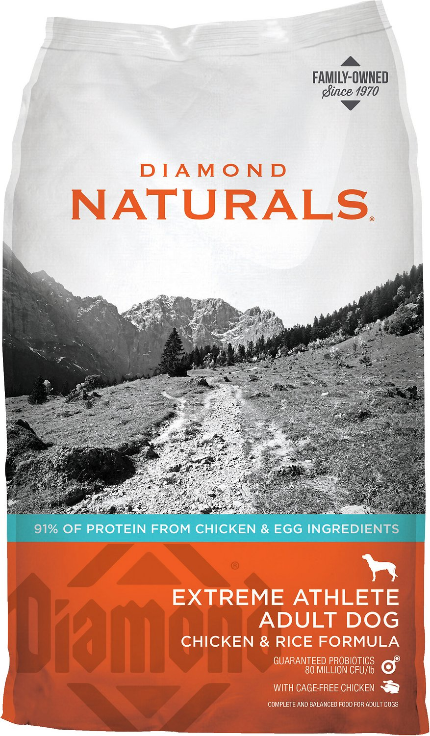 Diamond Naturals Extreme Athlete Formula Dry Dog Food, 40-lb bag (Weights: 40.0 pounds) Image