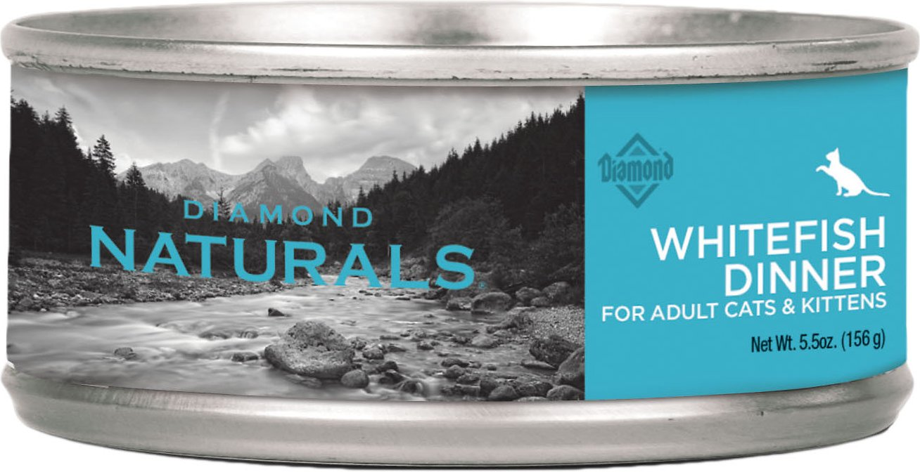 Diamond Naturals Whitefish Dinner Adult & Kitten Canned Cat Food Image