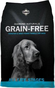 Diamond Naturals Grain-Free Whitefish & Sweet Potato Formula Dry Dog Food, 5-lb bag