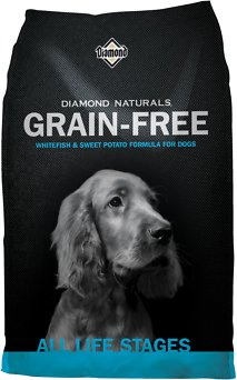 Diamond Naturals Grain-Free Whitefish & Sweet Potato Formula Dry Dog Food, 28-lb bag