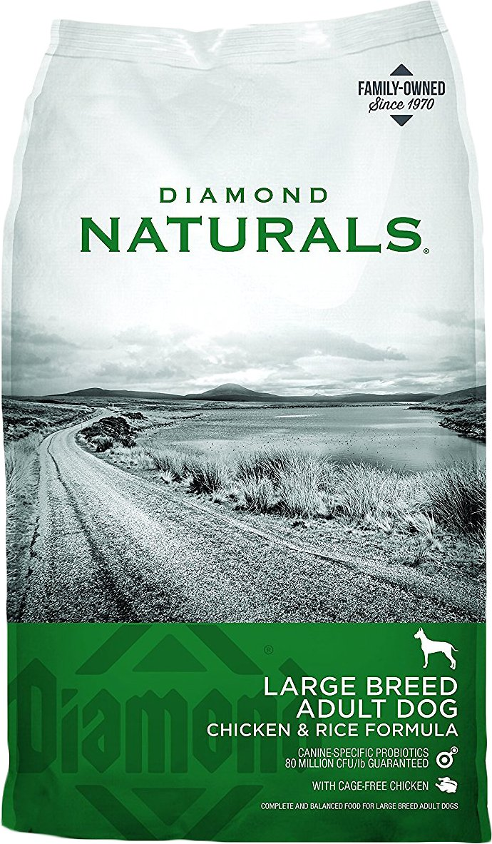 Diamond Naturals Large Breed Adult Chicken & Rice Formula Dry Dog Food, 40-lb bag (Weights: 40.0 pounds) Image