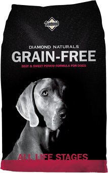 Diamond Naturals Grain-Free Beef & Sweet Potato Formula Dry Dog Food, 14-lb bag