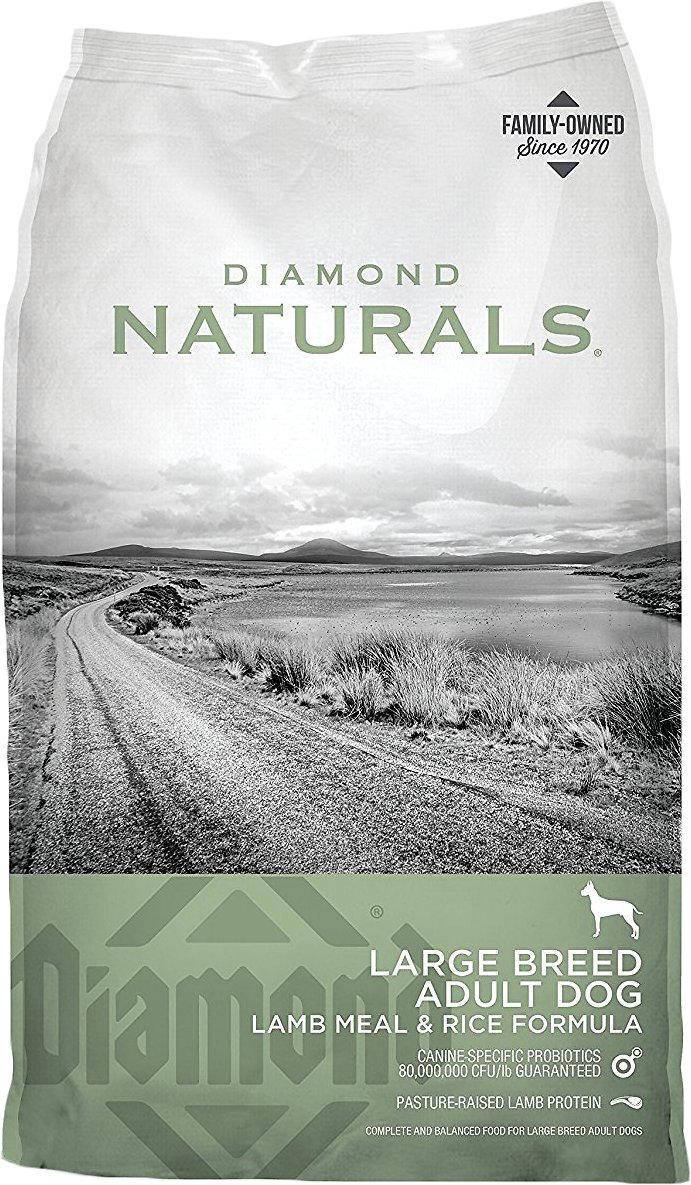 Diamond Naturals Large Breed Adult Lamb Meal & Rice Formula Dry Dog Food, 40-lb bag (Weights: 40.0 pounds) Image